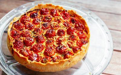Torta de ricota com tomate