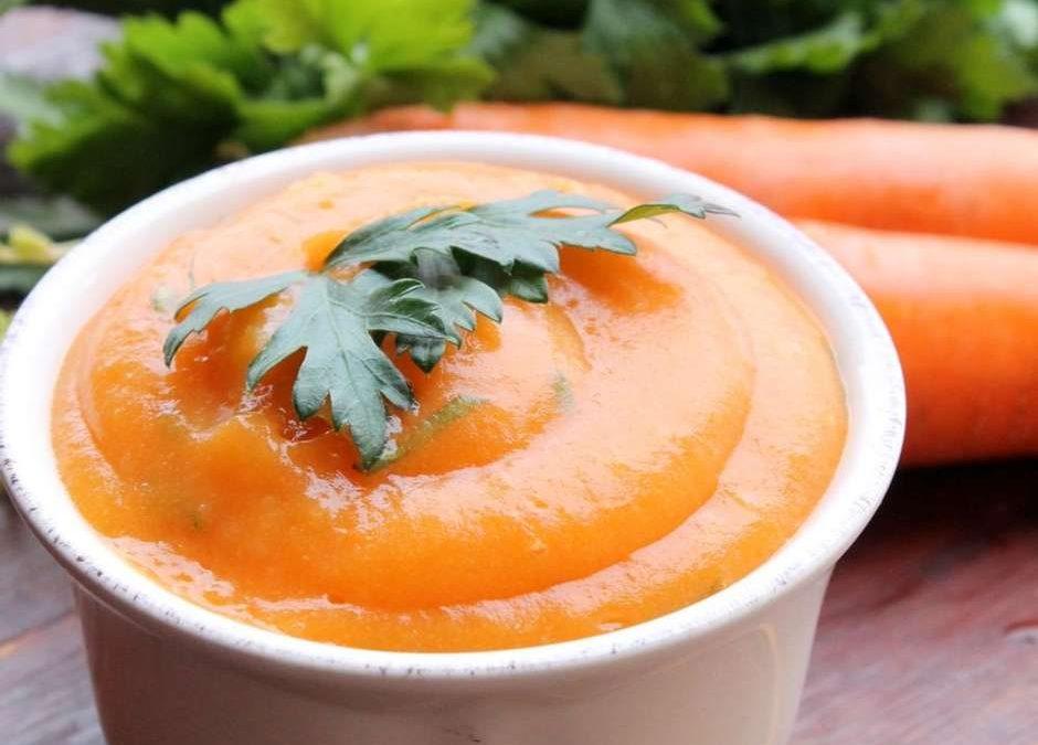 Purê de cenoura com requeijão