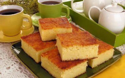 Bom-bocado de leite condensado e queijo