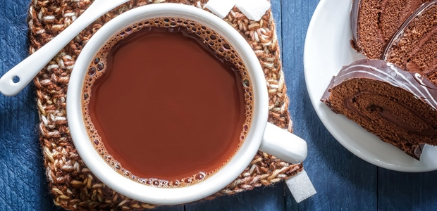 Chocolate quente com Nutella