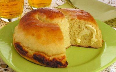 Pão de mandioca com queijo