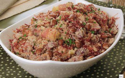 Farofa de carne-seca com feijão