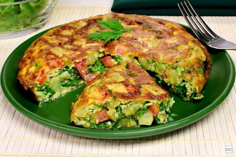 Omelete de batata-doce