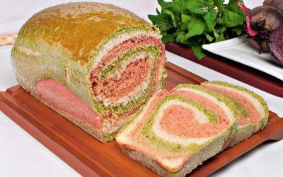 Pão colorido