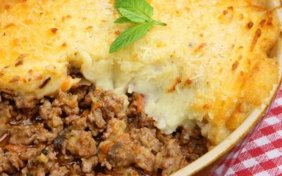 Bolo de batata com carne moída