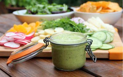Molho de abacate para salada