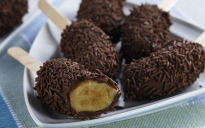 Banana com chocolate