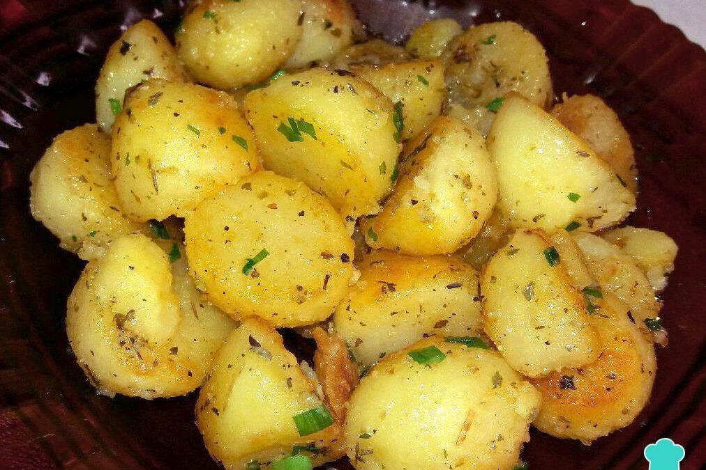 Batata salteada na manteiga