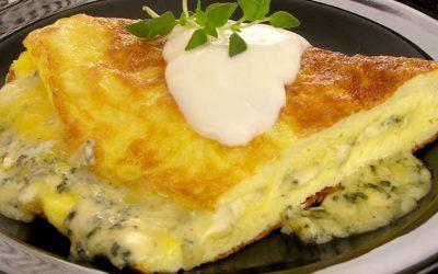 Omelete de gorgonzola