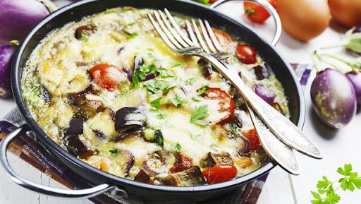 Omelete de berinjela