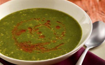 Sopa de agrião com azeite de tomate seco