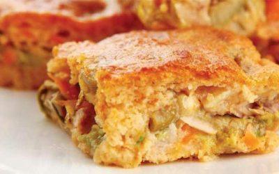 Torta de provolone e salaminho