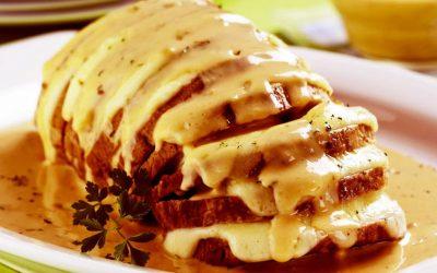 Lombo com molho de queijo