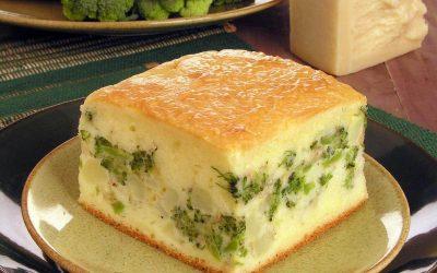 Torta de brócolis com batata
