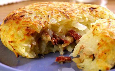 Batata com carne-seca e requeijão
